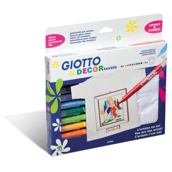 Pennarelli Giotto  Decor Textile  - 494500 (conf.8)