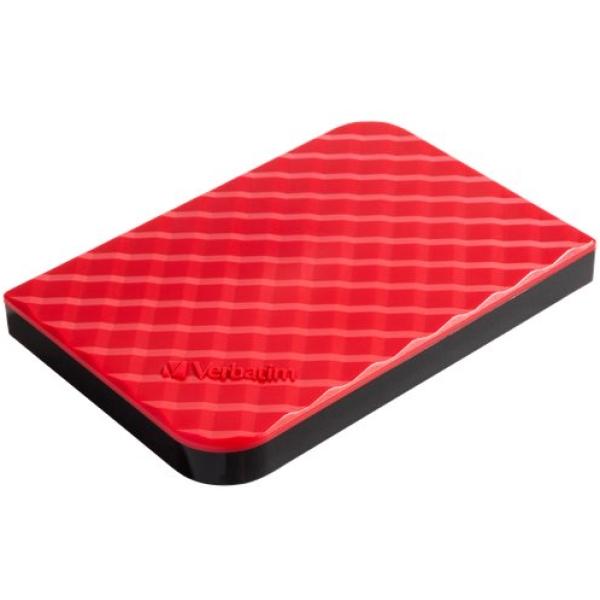 Hard Disk Store'n Go 3.0 Verbatim - 1 TB - rosso - 53203