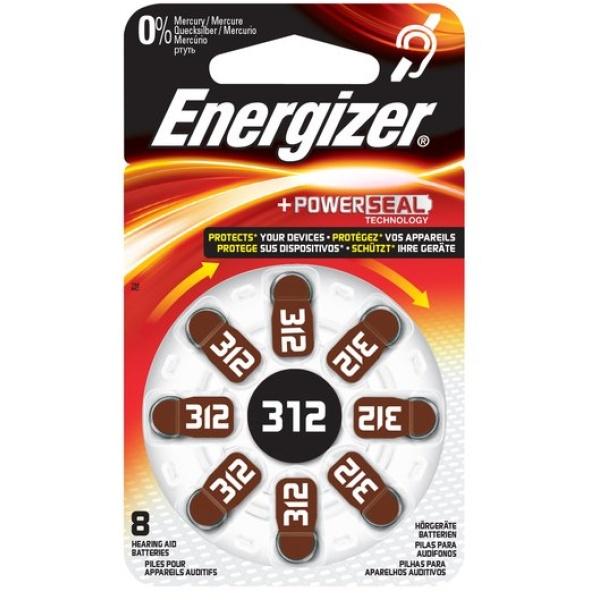 Pile acustiche Energizer - 312 - 1,4 V - E001082504 (conf.8)