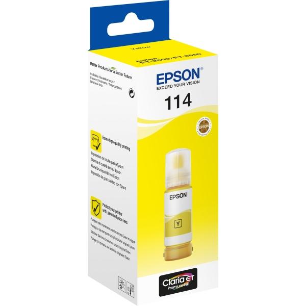 Flacone Epson 114 (C13T07B440) giallo - B00174