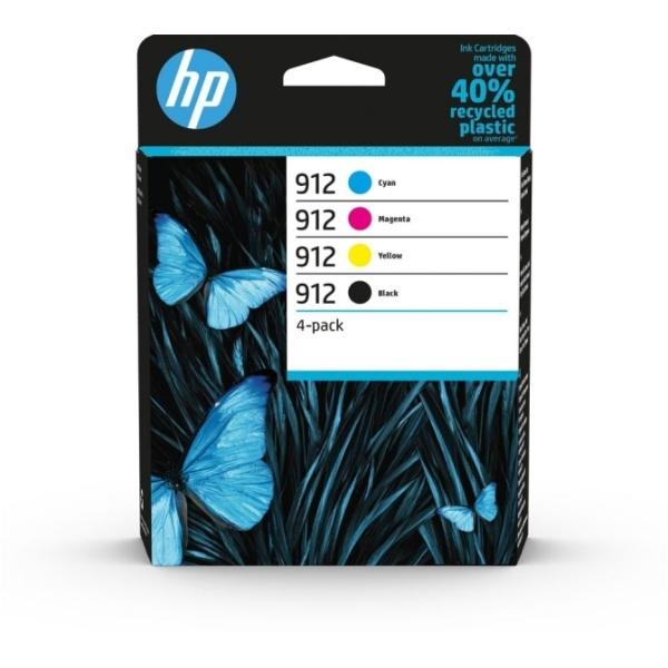 Cartuccia HP 912 (6ZC74AE) nero-ciano-magenta-giallo - B00244