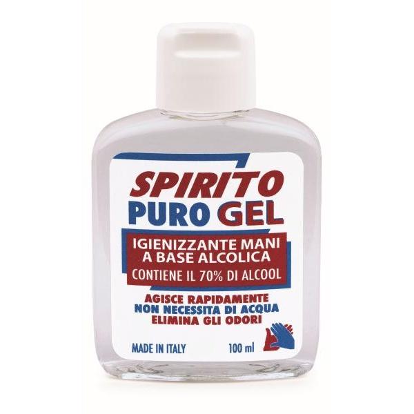 Gel Igienizzante mani Spirito Puro alcool 70% 100ml - D02424