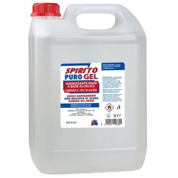 Gel Igienizzante mani Spirito Puro alcool 70% 5000ml - D02425