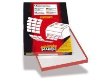 Etichette adesive Markin - 190x61 mm - Nr. etichette / foglio 4 - X210C535 (conf.100)