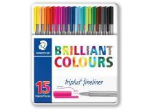 Penne punta fibra Brilliant colors Staedtler - 334M15 (conf.15)