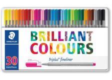 Penne punta fibra Brilliant colors Staedtler - 334M30 (conf.30)