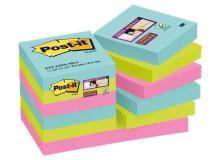 Foglietti Post-it® Super Sticky Miami  - assortiti a tema Miami - 47,6x47,6 mm - 622-12SS-MIA (conf.12)