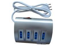 Prese multiple MKC - Con interruttore - 4 (10/16A + 2USB + 1SCHUKO 10/16A) - 16A - silver - 492518075