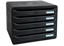 Cassettiere Big Box Plus orizzontale Exacompta - nero - 5 - 4 cm - 308714D