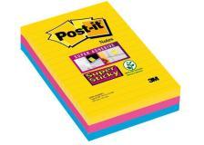 Foglietti Post-it® Super Sticky Formato XXL a righe (conf.3)