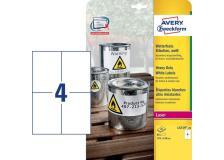 Etichette in poliestere Avery - laser - bianco - 105x148 mm - et/ff 4 - L4719-20 (conf.20)