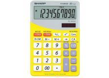 Calcolatrice da tavolo EL-M332B a 10 cifre Sharp - giallo - SH-ELM332BYL