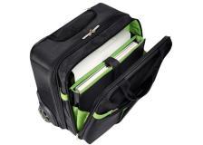 Trolley Carry-On Smart Traveller Leitz Complete  - 20X37X42 Cm - Nero/Verde - 60590095