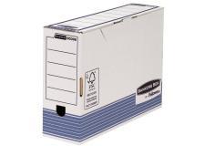 Sistema Di Archiviazione Bankers Box System Fellowes - Contenitore Archivio Legal Dorso 10 Cm - Legal - 36X8X25,5 Cm - Aletta Di Chiusura - 0030801 (Conf.10)