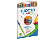 Pastelli bicolore Stilnovo Bicolor Giotto - assortiti - 257200 (conf.18)