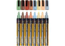 Pennarelli a gesso liquido Securit - 2-6 mm - colori terra - SMA510-V8-ET (conf.8)