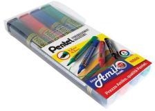 Marcatore permanente N860 Pentel linea Amiko - scalpello - 1,2-4,5 mm - assortiti - 0100862 (conf.4)