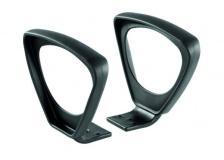 Coppia di braccioli neri non regolabili per sedie CKS - BR03 - D01159