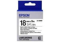 Nastro Epson LK-5WBW (C53S655012) bianco-nero - D02019