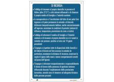 """Cartello alluminio 33,3x47cm """"SI RICORDA CHE.."""" - D02440"""