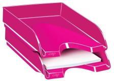 Vaschetta portacorrispondenza CepPro Gloss CEP in polistirene impilabile rosa - D06690