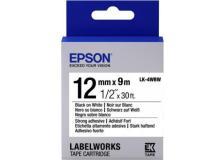 Nastro Epson LK-4WBW (C53S654016) nero-bianco - U01015
