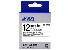 Nastro Epson LK-4WBN (C53S654021) bianco-nero - U01016