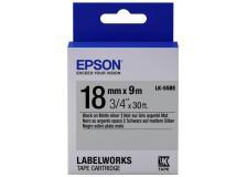 Nastro Epson LK-5SBE (C53S655013) argento-nero - U01029