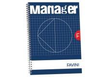 Blocco spiralato Manager Favini - 23x29,7 cm - 10 mm - 90ff - A293814