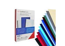 100 copertine leathergrain 250gr A4 avorio goffrato - Z00341