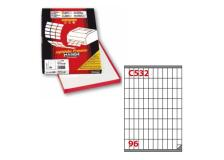 Etichetta adesiva c/532 bianca 100fg A4 16,3x35,4mm (96et/fg) markin - Z00714