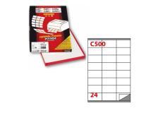Etichetta adesiva c/500 bianca 100fg A4 70x36mm (24et/fg) markin - Z00717