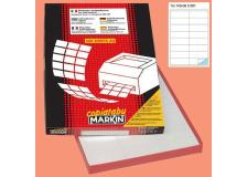 Etichetta adesiva c/501 bianca 100fg A4 105x36mm (16et/fg) markin - Z00722