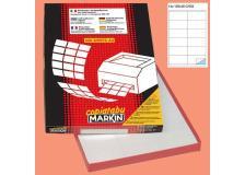 Etichetta adesiva c/504 bianca 100fg A4 105x48mm (12et/fg) markin - Z00723