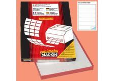 Etichetta adesiva c/529 bianca 100fg A4 210x48mm (6et/fg) markin - Z00728