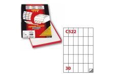 Etichetta adesiva c/522 bianca 100fg A4 35x59mm (30et/fg) markin - Z00729