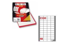 Etichetta adesiva c/530 bianca 100fg A4 48x25mm (48et/fg) markin - Z00731