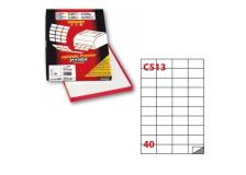 Etichetta adesiva c/513 bianca 100fg A4 52x30mm (40et/fg) markin - Z00732