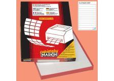 Etichetta adesiva c/527 bianca 100fg A4 210x25mm (12et/fg) markin - Z00742