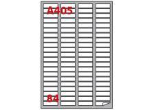 Etichetta adesiva a/405 bianca 100fg A4 46x11,1mm (84eti/fg) markin - Z00811