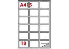 Etichetta adesiva a/415 bianca 100fg A4 63,5x46,6mm (18eti/fg) markin - Z00813