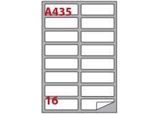 Etichetta adesiva a/435 bainca 100fg A4 99,1x34mm (16eti/fg) markin - Z00815