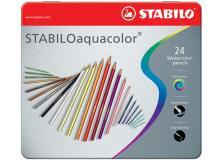 Astuccio metallo 24 pastelli stabilo aquacolor 1624 - Z01008