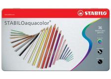 Astuccio metallo 36 pastelli stabilo aquacolor 1636 - Z01009