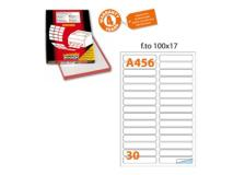 Etichetta adesiva a/456 bianca 100fg 100x17mm (30et/fg) markin - Z01546