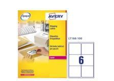 Etichetta adesiva l7166 bianca 100fg A4 99,1x93,1mm (6et/fg) avery - Z01722