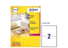 Etichetta adesiva l7168 bianca 100fg A4 199,6x143,5 (2et/fg) avery - Z01724