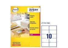 Etichetta adesiva l7173 bianca 100fg A4 99,1x57mm (10et/fg) avery - Z01726