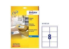 Etichetta adesiva j8165 bianca 25fg A4 99,1x67,7mm (8et/fg) inkjet avery - Z01732
