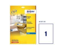 Etichetta adesiva j8167 bianca 25fg A4 199,6x289,1 (1et/fg) inkjet avery - Z01734